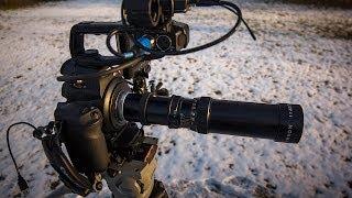 c100 vivitar vintage 85 205 and tamron 400 f6 9 lenes review for dslr video