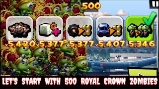 Zombie Tsunami: Let's Start With 500 Royal Crown Zombies