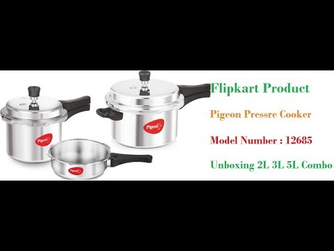 223f0de45 Pigeon Specisl Combo Pasck 2 L 3L 5L Pressure Cooker With Induction Bottomn