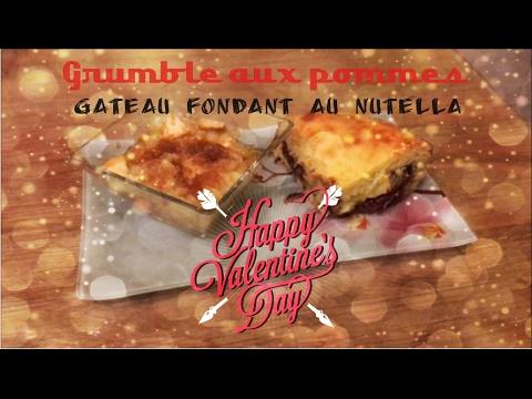 ♡recette-st-valentin♡---[part-2]---grumble-aux-pommes-&-gâteau-coeur-fondant-nutella---cookeo