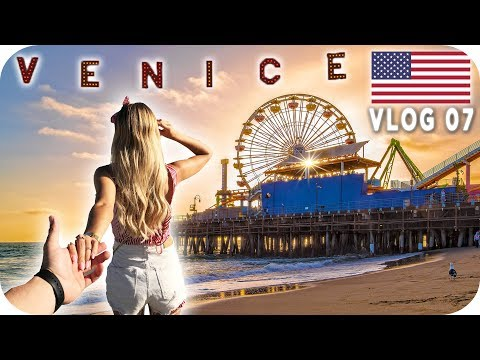 Das ERSTE MAL am VENICE BEACH & SANTA MONICA PIER 🌴 - LOS ANGELES Daily Vlog #07 | AnaJohnson