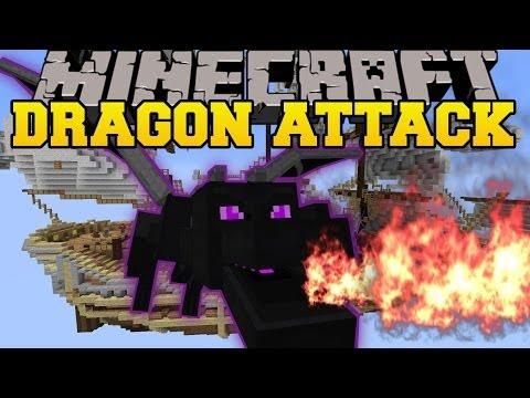 Minecraft: ENDER DRAGON DESTRUCTION (AVOID THE DRAGONS OR DIE!) Mini-Game