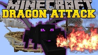 Minecraft: ENDER DRAGON DESTRUCTION (AVOID THE DRAGONS OR DIE!) Mini-Game