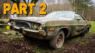 ABANDONED Dodge Challenger Rescued After 35 Years Part 2: Engine Removal