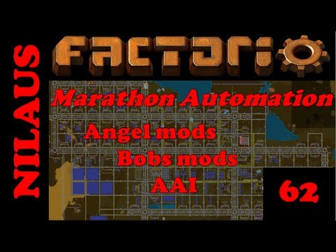 Factorio - Marathon Automation - E62 - Sulfiruc Waste Water and Coke