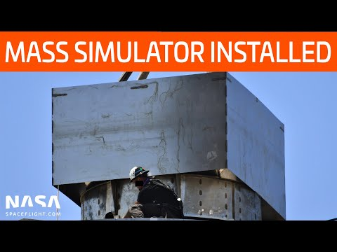 SpaceX Boca Chica - Mass Simulator on SN5 - New Starships line up