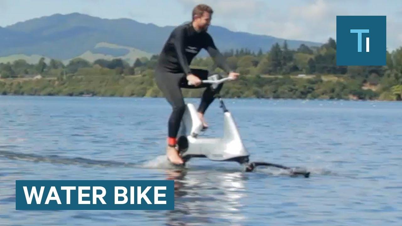 Велосипед кој лесно се вози на вода