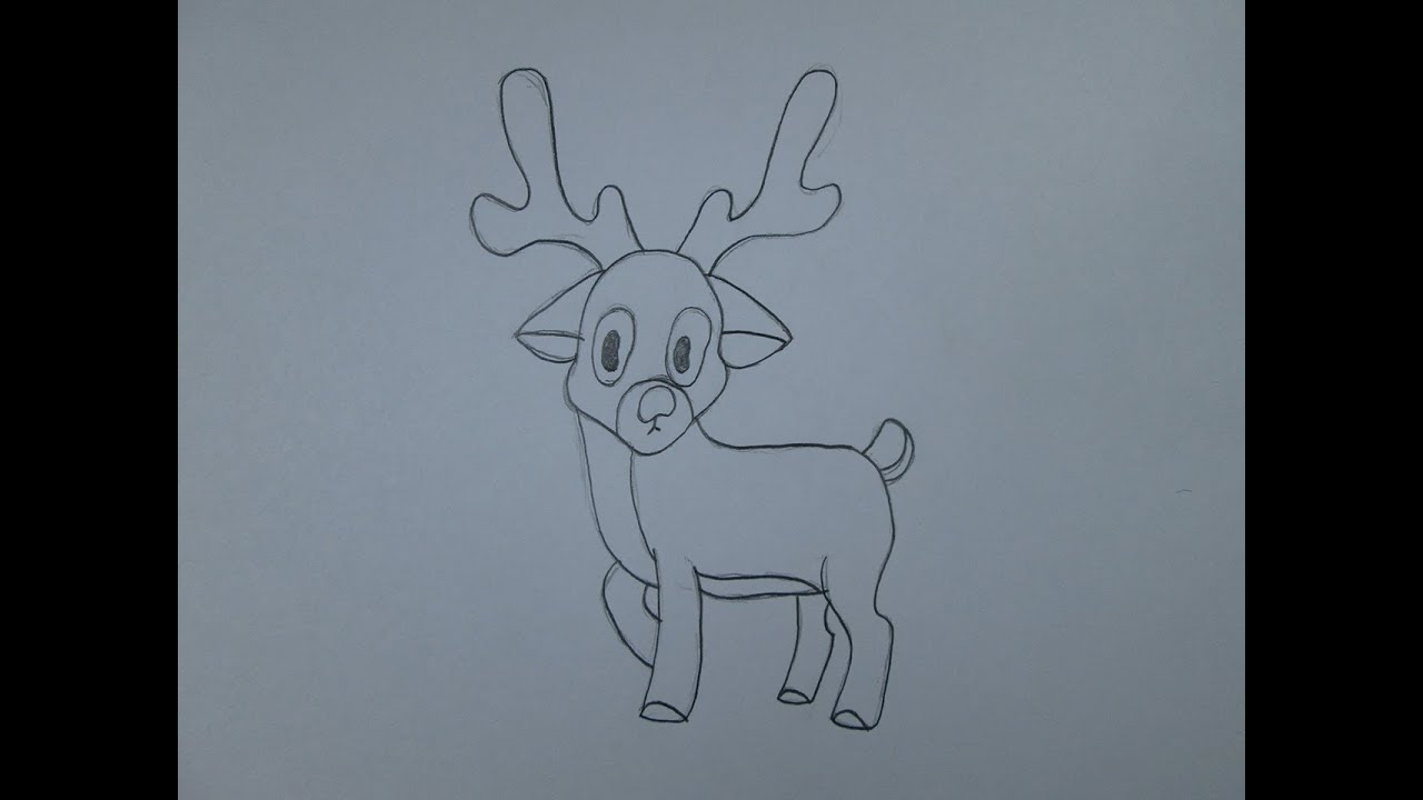 C mo dibujar un reno de navidad youtube - Dibujos de navidad faciles ...