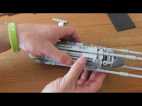 Building Lego Star Wars  Y Wing Starfighter  SET 75181  PART 7