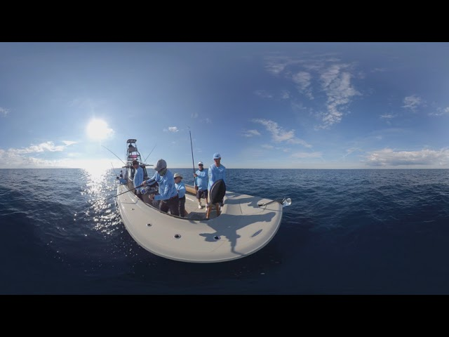 Sir'Reel Fishing Team Catching a Kingfish In Florida 360 Video