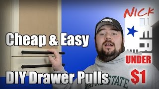 Ⓕ How To Make Cheap & Easy Diy Drawer Pulls (ep37)