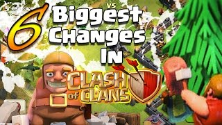 CLASH OF CLANS | TOP 6 BIGGEST CHANGES IN CLASH OF CLANS | Huge Updates Coc | Game Changing Update |