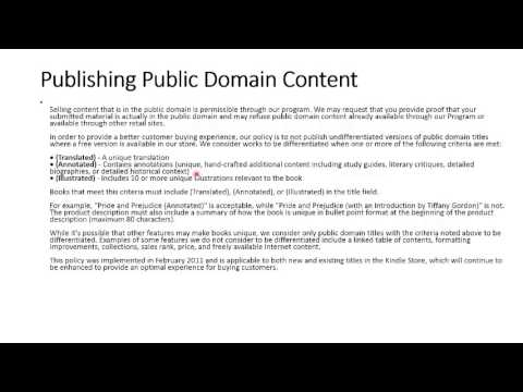 Profiting With Public Domain Content
