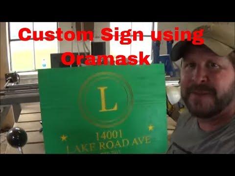 Custom address sign (CNC engraved)