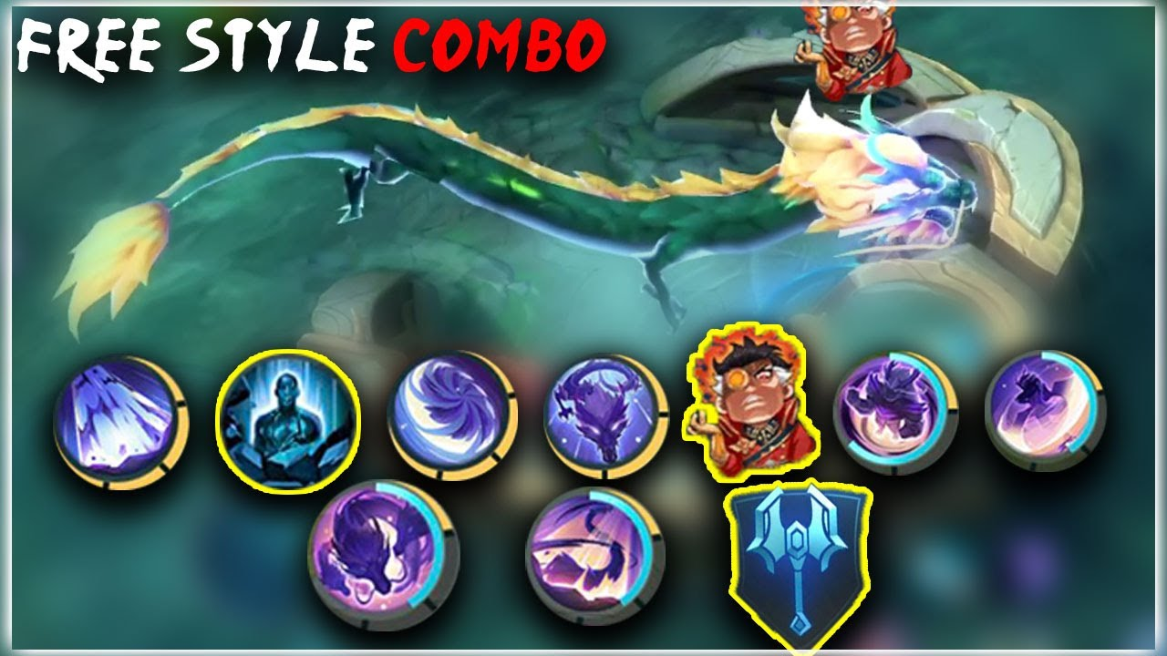 Top Global Yu Zhong Free Style Combo | Mobile Legends