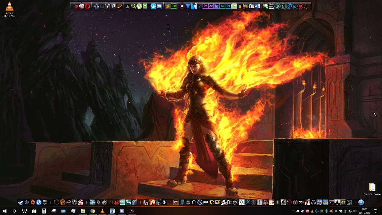 4k Wallpaper Engine Magic The Gathering Chandra Roaring Flame