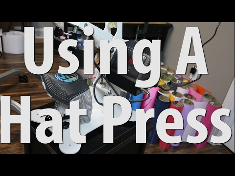 How to use a Hat Press To Add Vinyl and Rhinestones