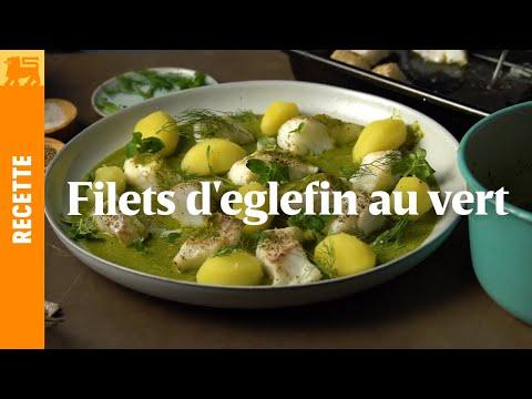Filet d'eglefin au vert