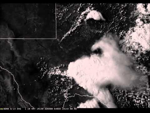 GOES 14 Satellite Imagery of Texas Super Cell