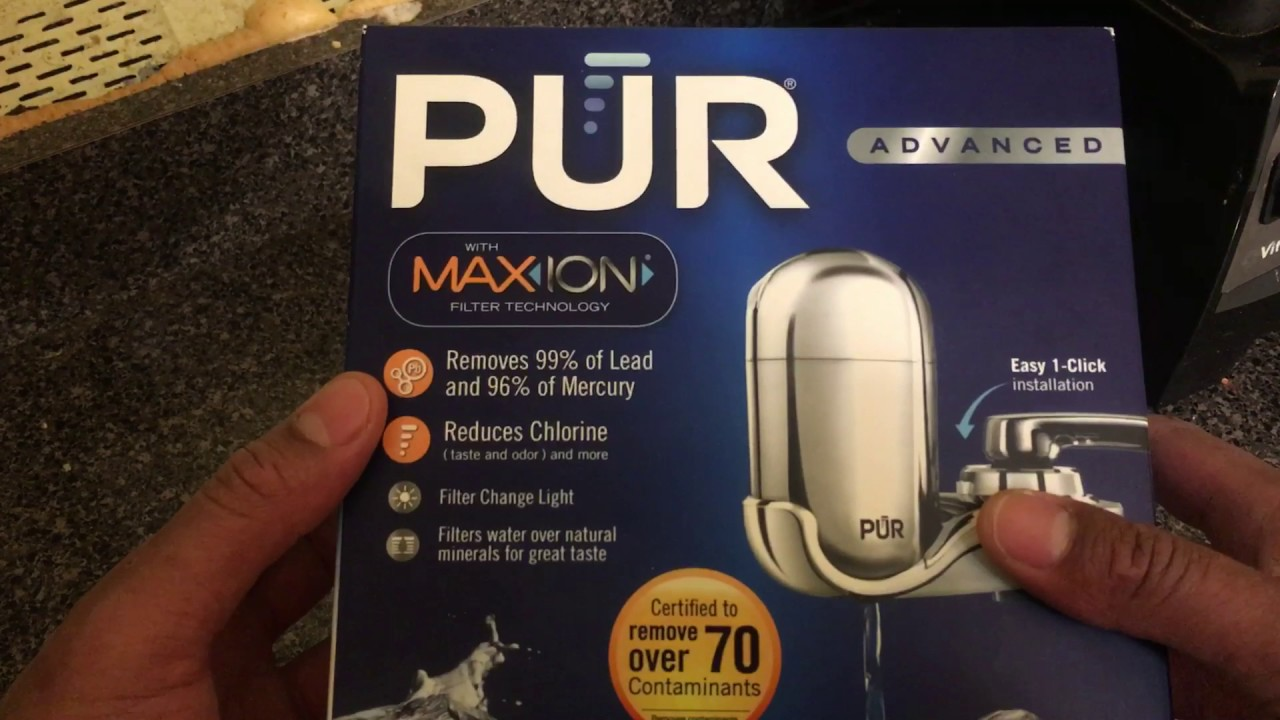PUR WATER FILTER REVIEW - YouTube