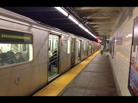 IRT Eastern Parkway Line: Manhattan Bound R142/A (4) (5) Trains @ Bergen Street