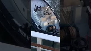 Pulling out of dock on pride of America