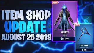Fortnite Item Shop Today *NEW* INFINITY SKIN! [25th August 2019] Fortnite Battle Royale