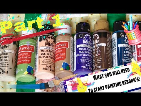 What you need to paint a reborn using FolkArt air dry paints ...