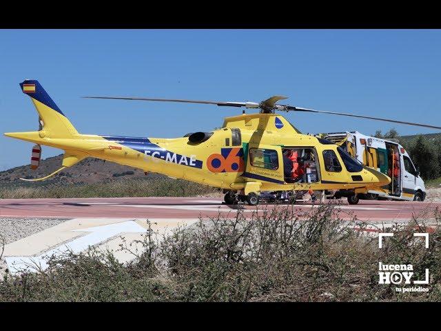 VÍDEO: Asistimos al despegue de un helicóptero de emergencias sanitarias del 061 desde el helipuerto de Lucena