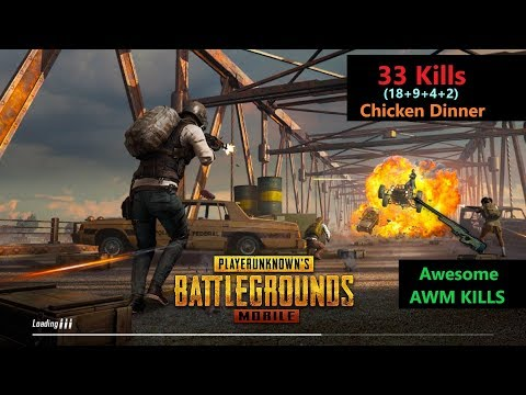 [Hindi] PUBG Mobile | '33 Kills' in Squad Amazing Kills With AWM