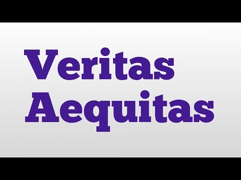 Veritas Aequitas meaning and pronunciation