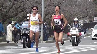 2017 びわ湖毎日マラソン 41km地点 佐々木悟、石川末廣選手ら通過