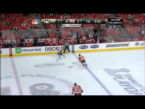 NHL: Flyers vs Penguins Game 3 Highlights 4/15/12