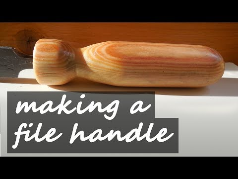Wooden file handle w/o a lathe