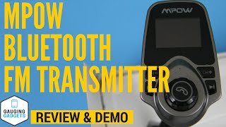Mpow Bluetooth FM Transmitter Review and Demo - T10