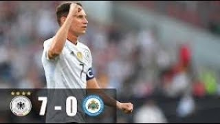Germany 7 vs 0 San Marino 10 Juni 2017