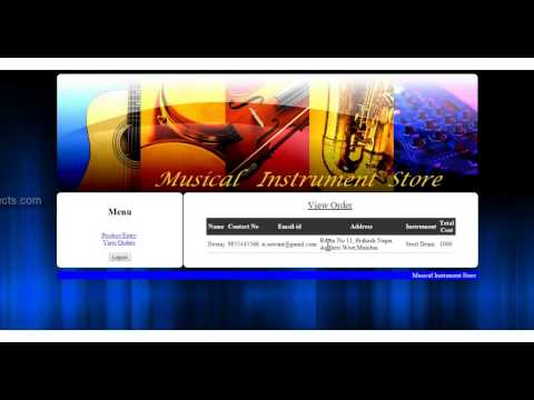 Musical Instrument Store System