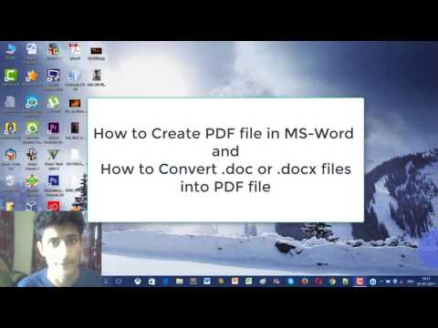 Create And Convert .docx (Word) File Into PDF In MS-Word How ?