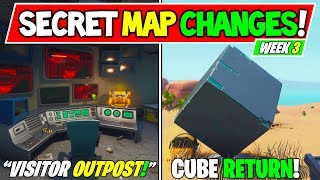 """*NEW* Fortnite: SECRET MAP CHANGES """"Cube Memorial"""" + """"Visitor New Outpost"""" - Season X Week 3"""