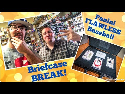 BRIEFCASE BREAK!! Opening a $1400 box of baseball cards!