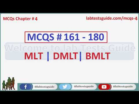 161 - 180 MCQ's and their Answers  For Laboratory Tescnicians and Technologists