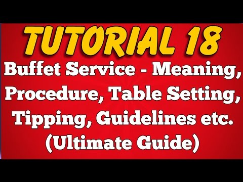 Buffet Service - Meaning, Procedure, Table Setting, Tipping, Guidelines (Tutorial 18)