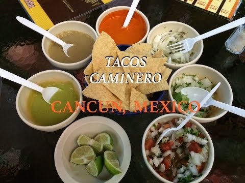 Tacos Caminero Restaurant Cancun Mexico