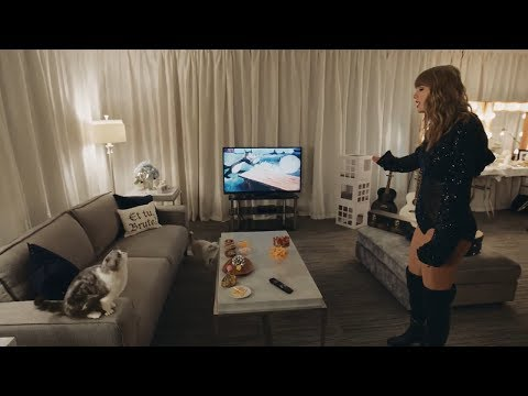 Taylor Swift with her cats Meredith & Olivia  DirectTV ad