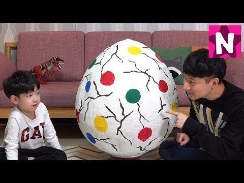산속에서 거대 공룡알 찾았어요 뉴욕이랑 놀자 Giant Dinosaur Surprise Egg NY Toys