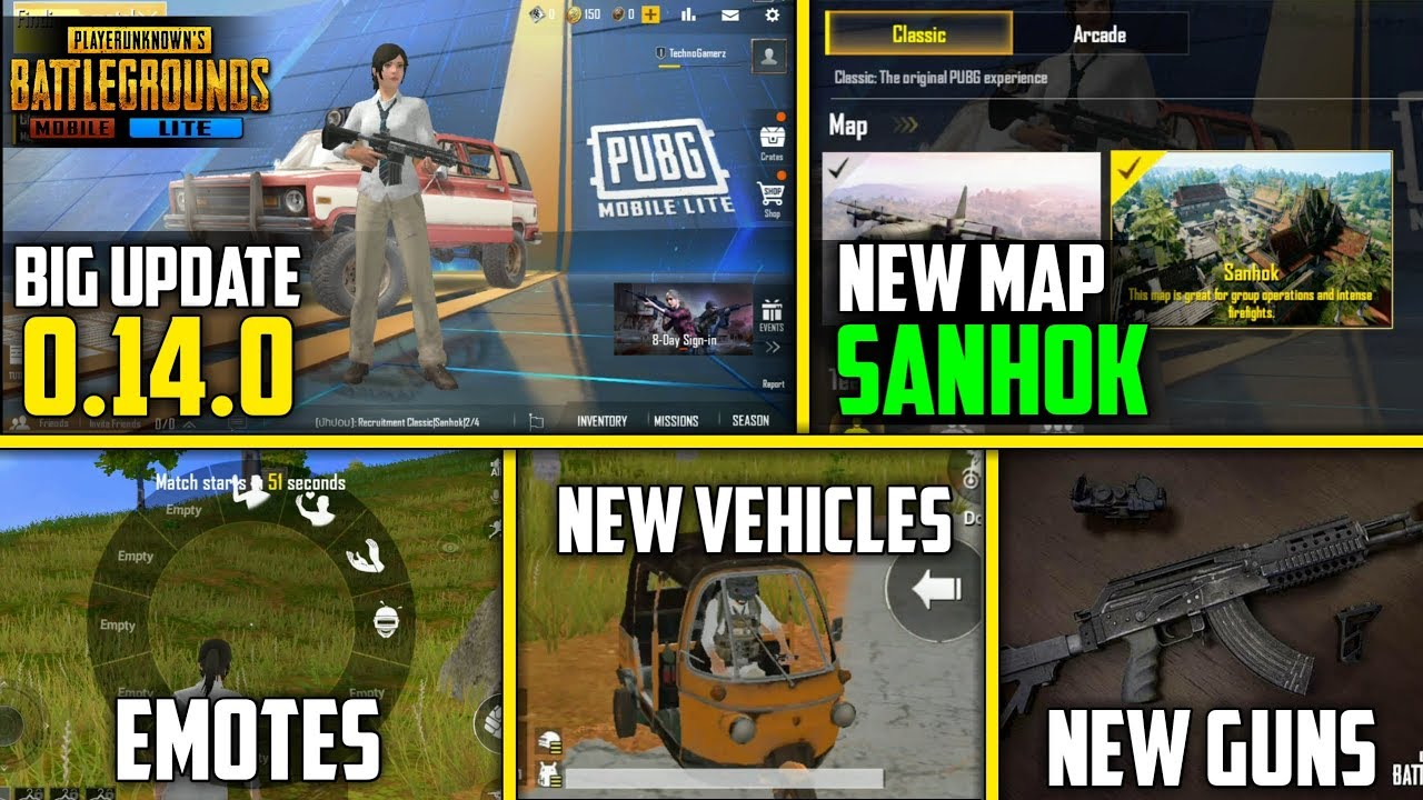 PUBG Mobile Lite 0.14.0 New Update Beta Download | Sanhok Map, New Guns, New vehicles and More