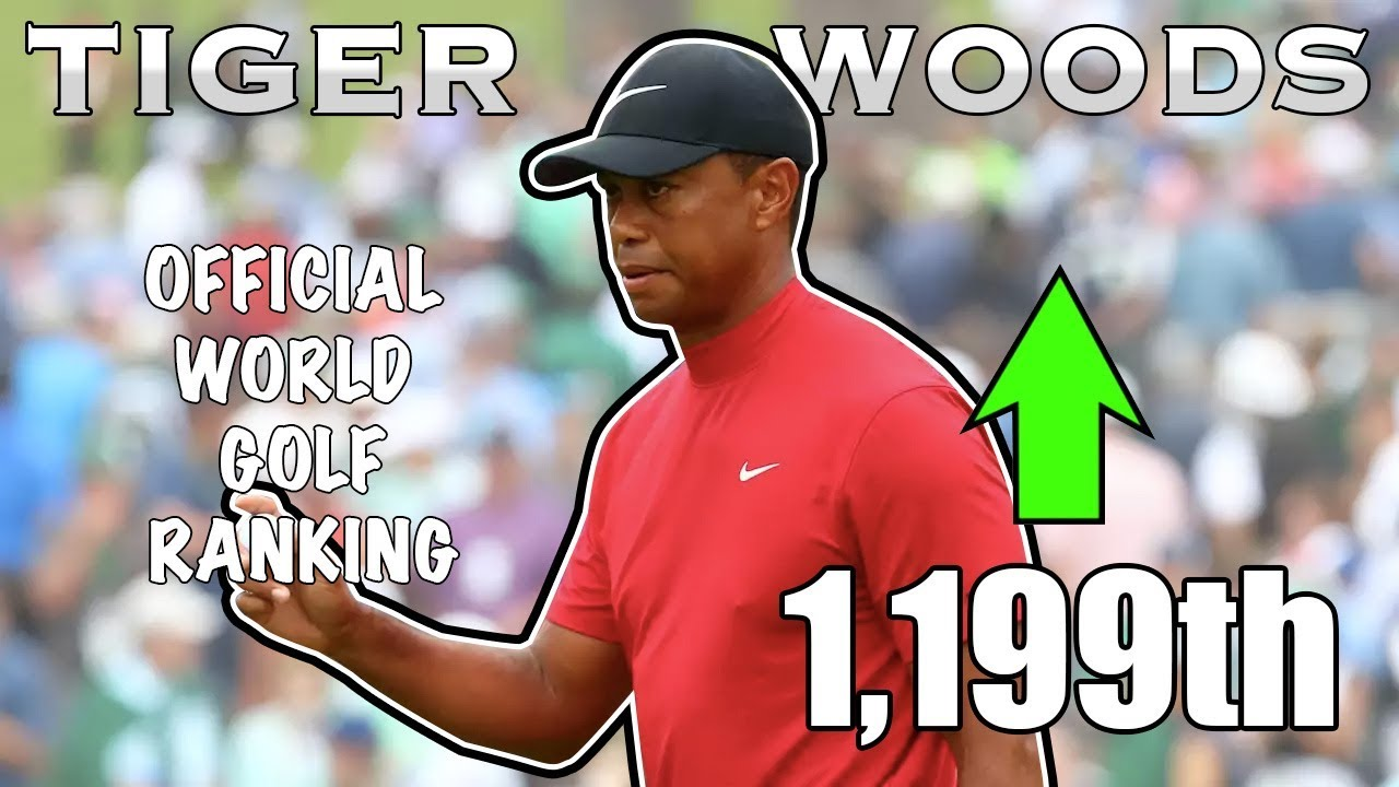 TIGER WOODS' RISE IN THE WORLD GOLF RANKINGS