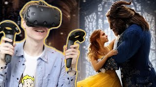 BEAUTY AND THE BEAST IN VIRTUAL REALITY! | Disney Movies VR (HTC Vive Gameplay)