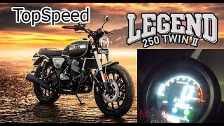 Top Speed GPX Legend 250 Twin II & Accerelation Test by MotoRival