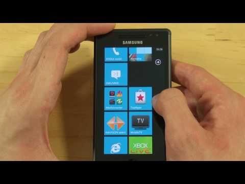 Samsung I8700 Omnia 7 Test Bedienung